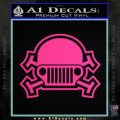 Army Jeep Helmet Decal Sticker Pink Hot Vinyl 120x120