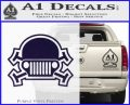 Army Jeep Helmet Decal Sticker PurpleEmblem Logo 120x97