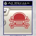 Army Jeep Helmet Decal Sticker Red 120x120