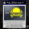 Army Jeep Helmet Decal Sticker Yellow Laptop 120x120