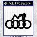 Audi Sexy D1 Decal Sticker Black Vinyl 120x120
