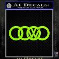 Audi VW Decal Sticker Lime Green Vinyl 120x120