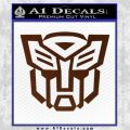 Autobot Decal Sticker Transformers ALT BROWN Vinyl 120x120