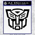 Autobot Decal Sticker Transformers ALT Black Vinyl 120x120