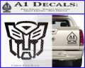 Autobot Decal Sticker Transformers ALT Carbon FIber Black Vinyl 120x97