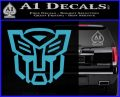 Autobot Decal Sticker Transformers ALT Light Blue Vinyl 120x97