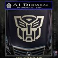 Autobot Decal Sticker Transformers ALT Metallic Silver Emblem 120x120