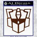 Autobot Retro Decal Sticker Transformers BROWN Vinyl 120x120