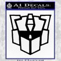 Autobot Retro Decal Sticker Transformers Black Vinyl 120x120