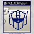 Autobot Retro Decal Sticker Transformers Blue Vinyl 120x120