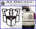 Autobot Retro Decal Sticker Transformers Carbon FIber Black Vinyl 120x97