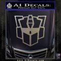Autobot Retro Decal Sticker Transformers Carbon FIber Chrome Vinyl 120x120