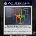 Autobot Retro Decal Sticker Transformers Glitter Sparkle 120x120