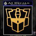 Autobot Retro Decal Sticker Transformers Gold Vinyl 120x120