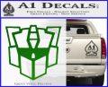 Autobot Retro Decal Sticker Transformers Green Vinyl Logo 120x97