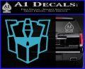 Autobot Retro Decal Sticker Transformers Light Blue Vinyl 120x97