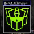Autobot Retro Decal Sticker Transformers Lime Green Vinyl 120x120