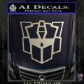 Autobot Retro Decal Sticker Transformers Metallic Silver Emblem 120x120