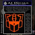 Autobot Retro Decal Sticker Transformers Orange Emblem 120x120
