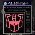 Autobot Retro Decal Sticker Transformers Pink Emblem 120x120