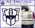 Autobot Retro Decal Sticker Transformers PurpleEmblem Logo 120x97
