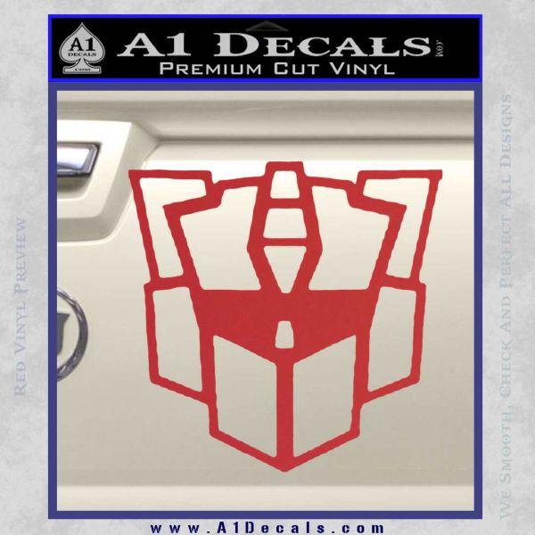 Autobot Retro Decal Sticker Transformers Red