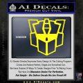 Autobot Retro Decal Sticker Transformers Yellow Laptop 120x120