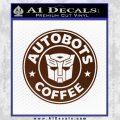 Autobots Coffee Starbucks Decal Sticker BROWN Vinyl 120x120