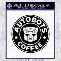 Autobots Coffee Starbucks Decal Sticker Black Vinyl 120x120