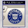 Autobots Coffee Starbucks Decal Sticker Blue Vinyl 120x120