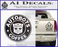 Autobots Coffee Starbucks Decal Sticker Carbon FIber Black Vinyl 120x97