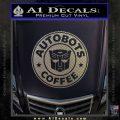 Autobots Coffee Starbucks Decal Sticker Carbon FIber Chrome Vinyl 120x120