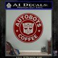 Autobots Coffee Starbucks Decal Sticker DRD Vinyl 120x120