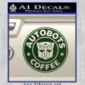 Autobots Coffee Starbucks Decal Sticker Dark Green Vinyl 120x120