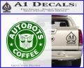 Autobots Coffee Starbucks Decal Sticker Green Vinyl Logo 120x97