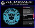 Autobots Coffee Starbucks Decal Sticker Light Blue Vinyl 120x97