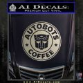 Autobots Coffee Starbucks Decal Sticker Metallic Silver Emblem 120x120