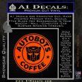 Autobots Coffee Starbucks Decal Sticker Orange Emblem 120x120