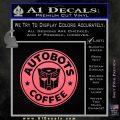 Autobots Coffee Starbucks Decal Sticker Pink Emblem 120x120