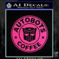 Autobots Coffee Starbucks Decal Sticker Pink Hot Vinyl 120x120