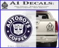 Autobots Coffee Starbucks Decal Sticker PurpleEmblem Logo 120x97