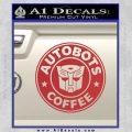 Autobots Coffee Starbucks Decal Sticker Red 120x120