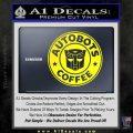 Autobots Coffee Starbucks Decal Sticker Yellow Laptop 120x120