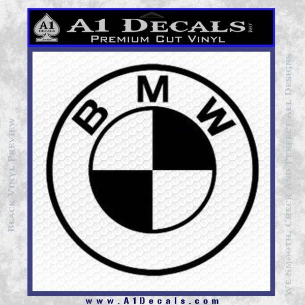 BMW Decal Sticker ALT Black Vinyl