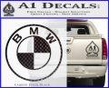 BMW Decal Sticker ALT Carbon FIber Black Vinyl 120x97