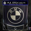 BMW Decal Sticker ALT Metallic Silver Emblem 120x120