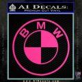 BMW Decal Sticker ALT Pink Hot Vinyl 120x120