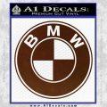 BMW Official Emblem Decal Sticker BROWN Vinyl 120x120