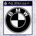 BMW Official Emblem Decal Sticker Black Vinyl 120x120
