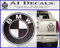 BMW Official Emblem Decal Sticker Carbon FIber Black Vinyl 120x97